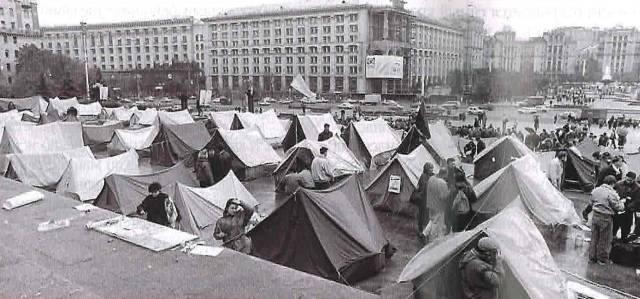 2 августа 1989 года. Трагедия у Главпочтамта - обрушенное здание напротив палаточного городка на Майдане