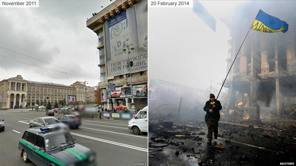 Киев до и во время Майдана 2014 - Дом Профсоюзов