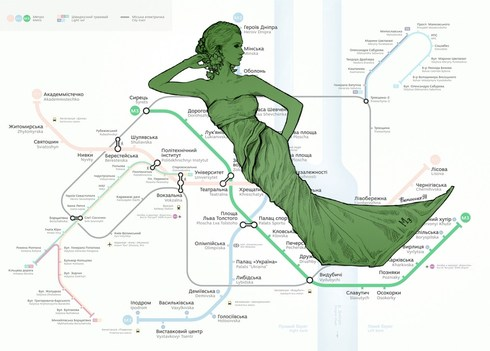 Человечное метро Киев Евгения Лиса