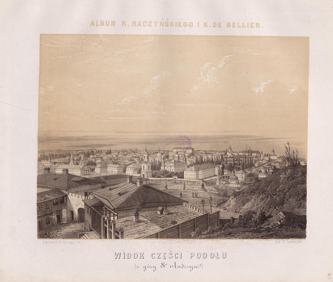 1861 год. Вид на Подол на гравюре