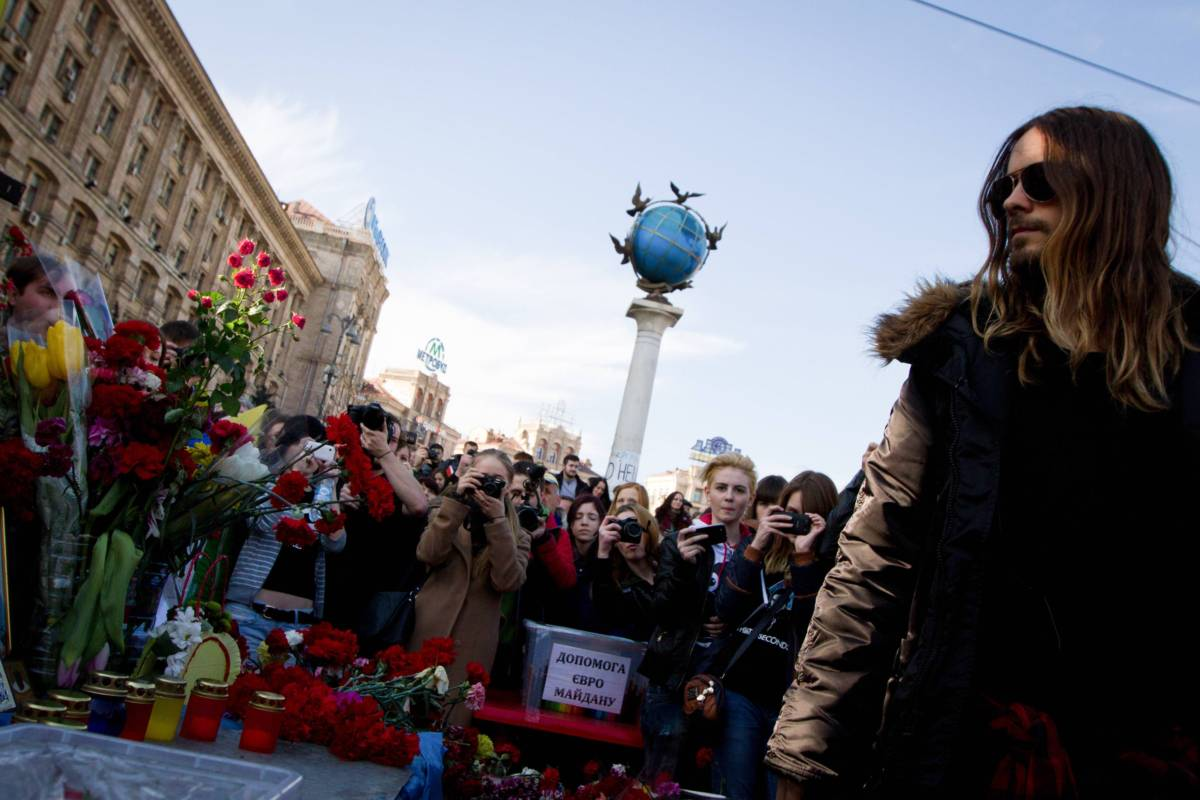 Джаред Лето на Майдане в Киеве