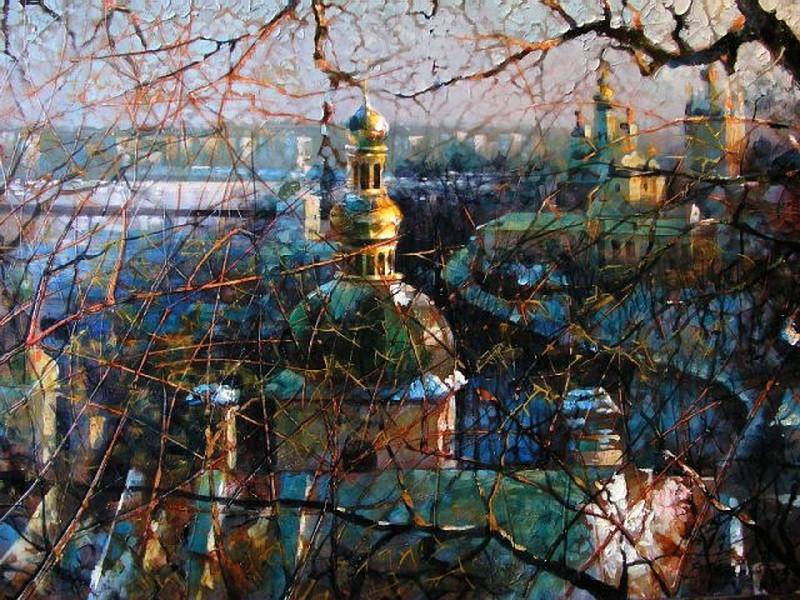 Виталий Петровский Городской пейзаж Киев Лавра