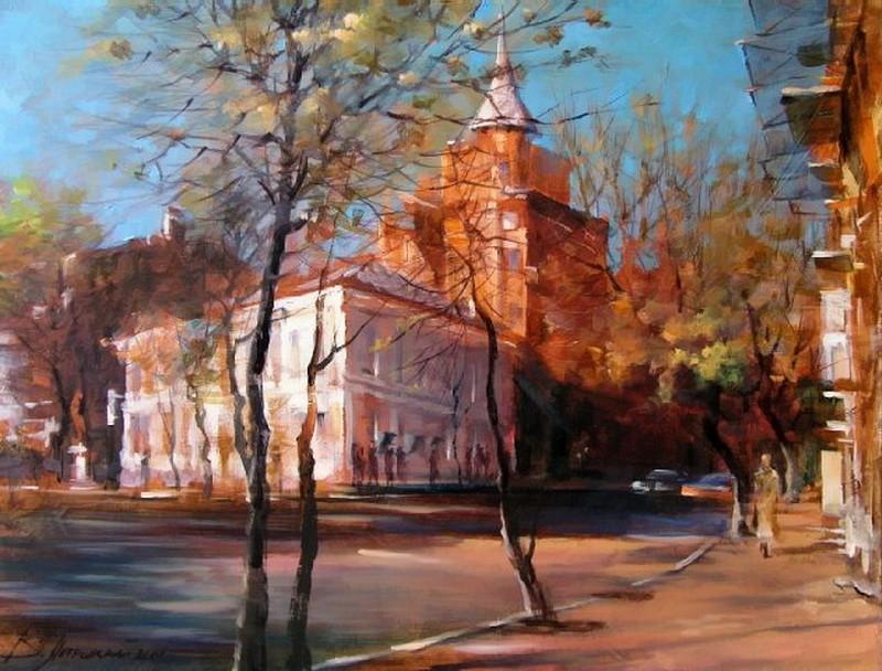 Виталий Петровский Городской пейзаж Киев Ярославов Вал