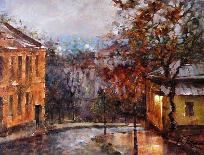 Виталий Петровский Городской пейзаж Киев осень
