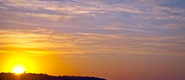 Закат на Киевском море