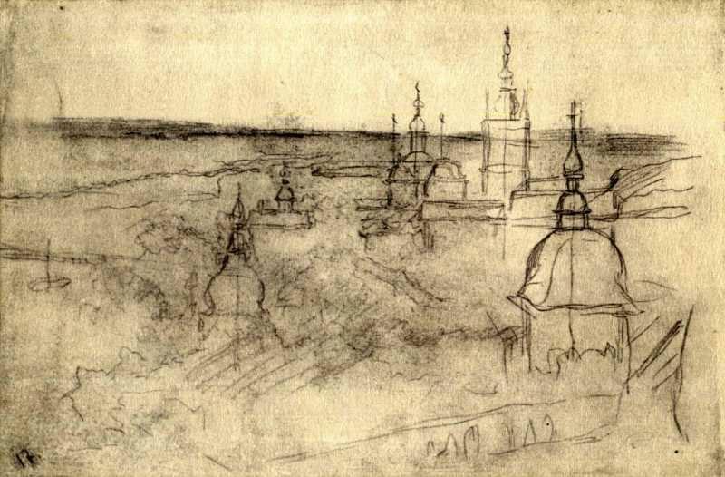 Киев рисунки Тараса Шевченко монастырь