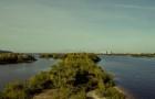 Вид на Днепр с Южного моста