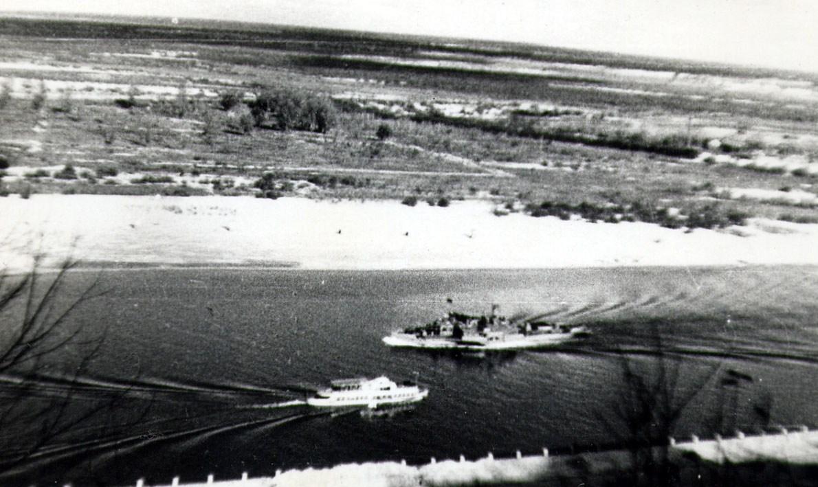 1948 год. Вид на Днепр и Левый берег