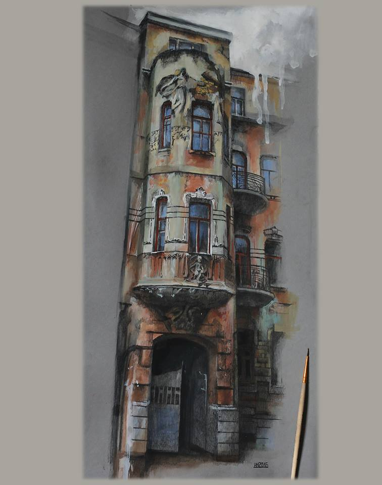 Дом со змеями и каштанами (доходный дом Чоколовой, Большая Житомирская, 32)