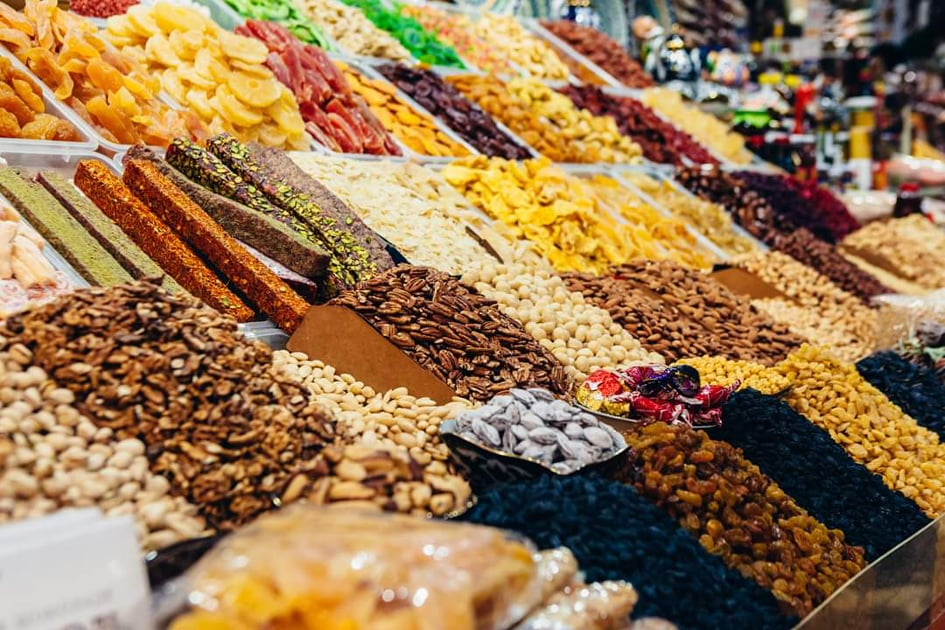 Бессарабский рынок 2019 сухофрукты орехи