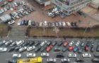 Дворец Спорта: фото с машинами и без (до и во время карантина)