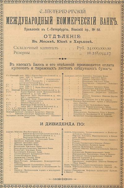 Реклама Санкт-Петербурзького міжнародного банку
