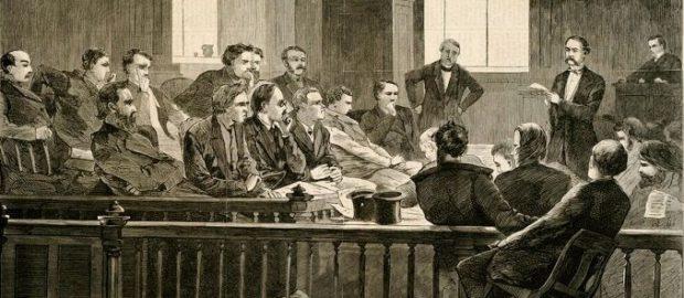 Суд присяжних, малюнок XIX століття